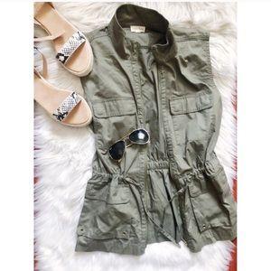 Maison Jules Army Green Vest Size Medium